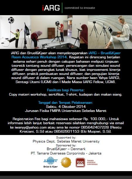 iARG – Bruel&Kjaer Room Acoustics Workshop 2014